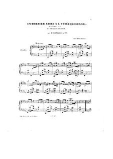 Un dernier adieu à l'année qui s'en va!.., Op.53: Un dernier adieu à l'année qui s'en va!.. by Петер Кавалло