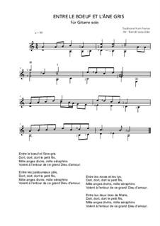 Entre le boeuf et l'âne gris: Для гитары by folklore