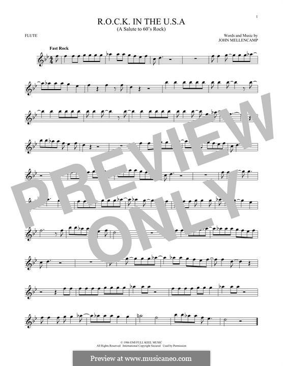 R.O.C.K. in the U.S.A. (A Salute to 60's Rock): Для флейты by John Mellencamp