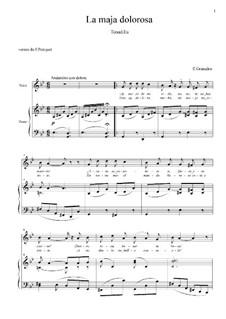 Tonadillas en estilo antiguo (Tonadillas in the Old Style): No.9 La maja dolorosa II (Ay majo de mi vida) g minor by Энрике Гранадос
