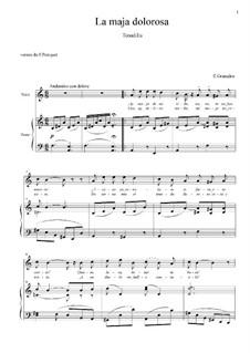 Tonadillas en estilo antiguo (Tonadillas in the Old Style): No.9 La maja dolorosa II (Ay majo de mi vida) a minor by Энрике Гранадос