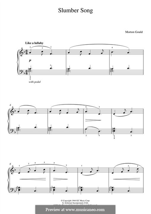 Slumber Song (from 'At the Piano'): Для фортепиано by Morton Gould