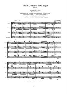 La stravaganza. Twelve Violin Concertos, Op.4: Violin Concerto No.3 in G Major. Arrangement for string quartet, RV 301 by Антонио Вивальди
