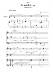 Tonadillas en estilo antiguo (Tonadillas in the Old Style): No.9 La maja dolorosa I (!Oh muerte cruel!) by Энрике Гранадос