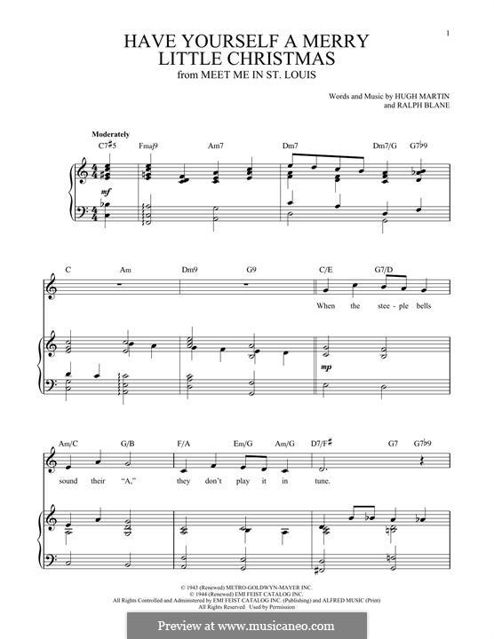 Piano-Vocal version: Для голоса и фортепиано by Hugh Martin, Ralph Blane