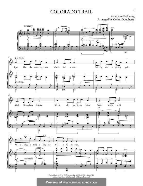 The Colorado Trail: Для голоса и фортепиано by Celius Dougherty