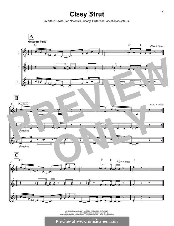 Cissy Strut (The Meters): Для укулеле by Arthur Neville, George Porter, Joseph Modeliste Jr., Leo Nocentelli