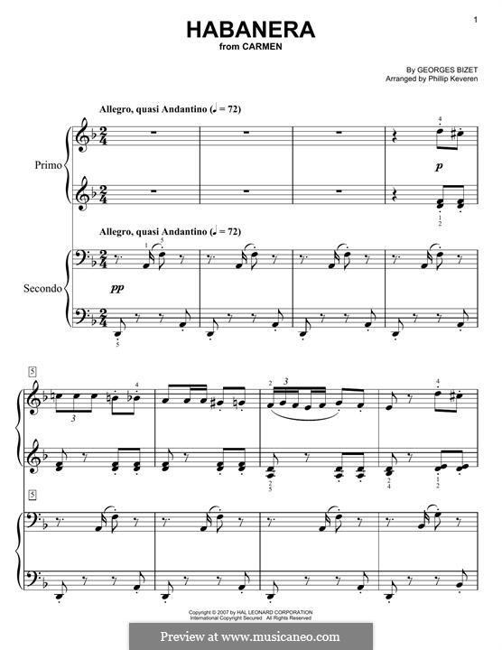 Хабанера: Для фортепиано by Жорж Бизе