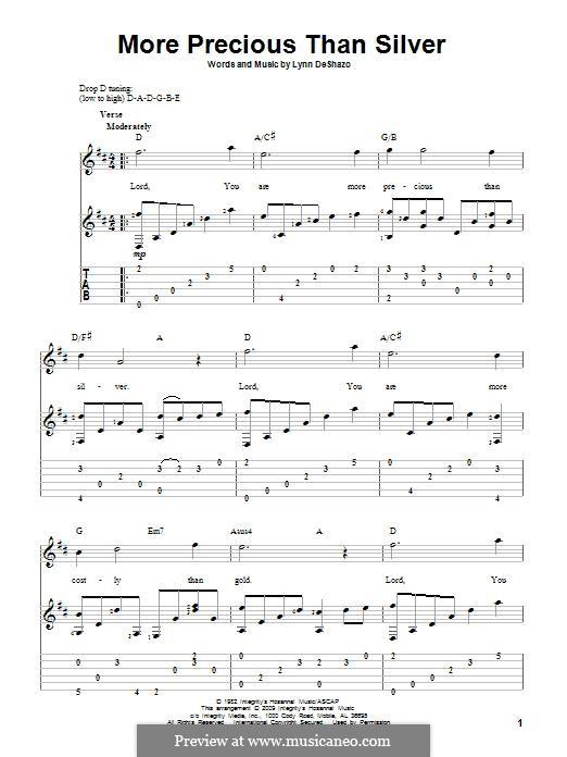 More Precious Than Silver: Гитарная табулатура by Lynn DeShazo