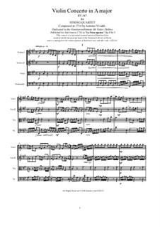 La stravaganza. Twelve Violin Concertos, Op.4: Violin Concerto No.5 in A Major. Version for string quartet, RV 347 by Антонио Вивальди