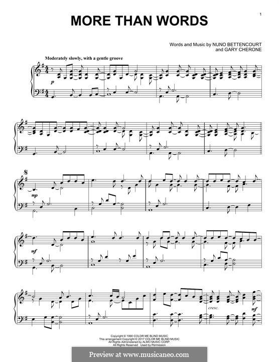 More Than Words (Extreme): Для фортепиано by Gary Cherone, Nuno Bettencourt