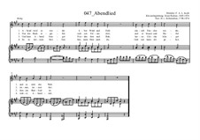Abendlied: Abendlied by Эрнст Рихтер