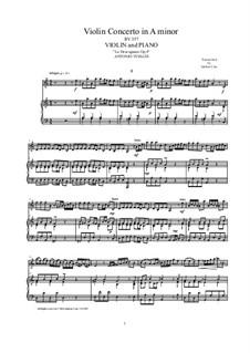 La stravaganza. Twelve Violin Concertos, Op.4: Violin Concerto No.4 in A Minor. Version for violin and piano, RV 357 by Антонио Вивальди