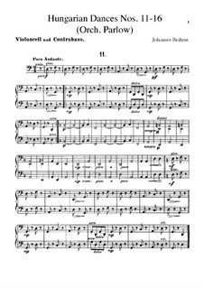 No.11-16: Для оркестра – Партия виолончели и контрабаса by Иоганнес Брамс