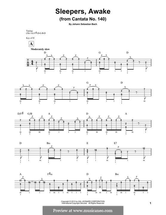 Sleepers, Awake: For banjo by Иоганн Себастьян Бах