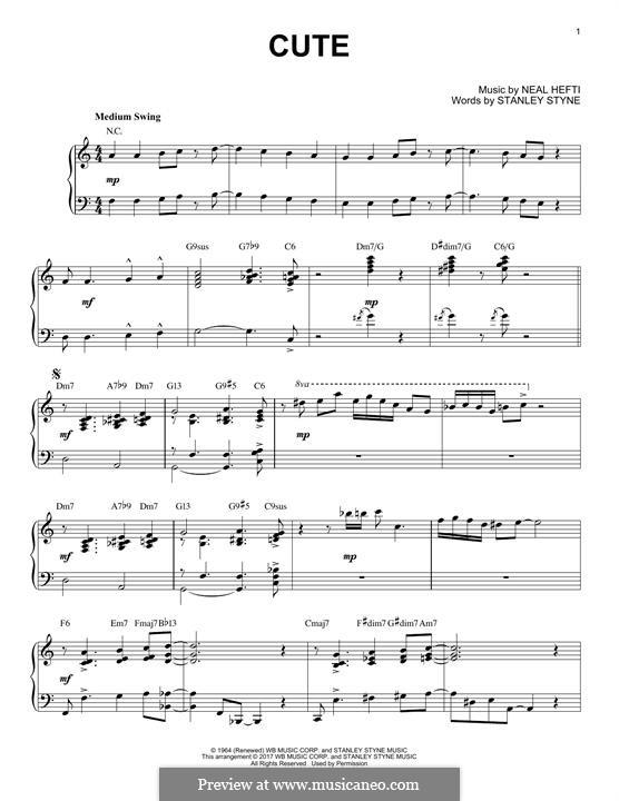 Cute: Для фортепиано by Neal Hefti
