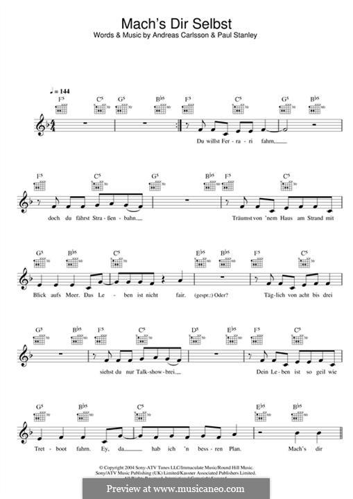 Machs Dir Selbst!: Мелодия by Andreas Carlsson, Paul Stanley