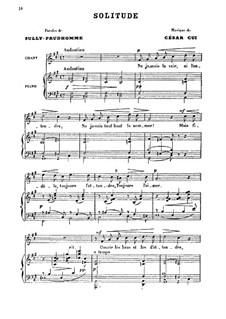 Шесть мелодий для голоса и фортепиано, Op.23: No.4 Одиночество by Цезарь Кюи