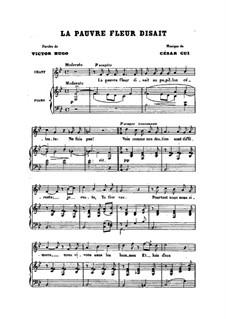 Шесть мелодий для голоса и фортепиано, Op.23: No.5 La pauvre fleur disait by Цезарь Кюи