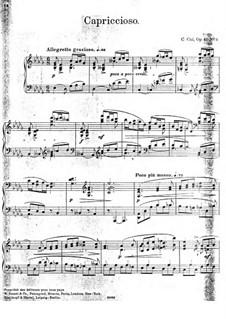 В Аржанто, Op.40: No.3 Каприччиозо by Цезарь Кюи