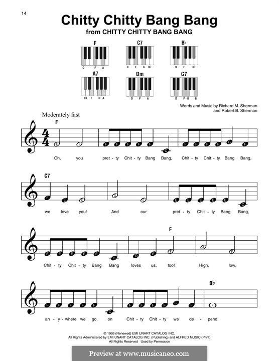 Chitty Chitty Bang Bang: For any instrument by Richard M. Sherman, Robert B. Sherman