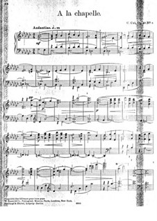 В Аржанто, Op.40: No.8 В часовне by Цезарь Кюи