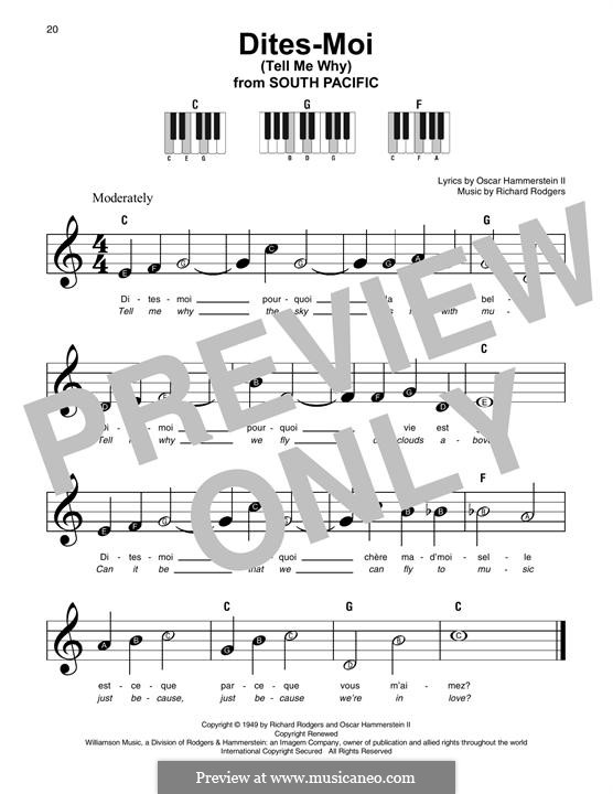 Dites-Moi (Tell Me Why): For any instrument by Richard Rodgers
