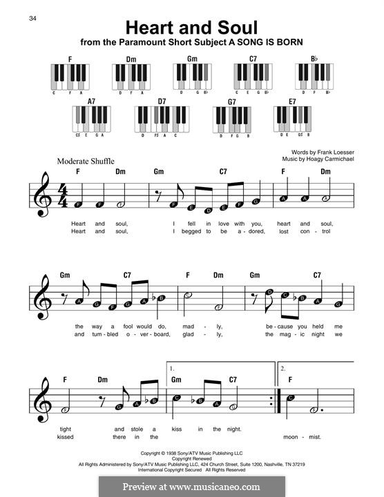 Heart and Soul: For any instrument by Hoagy Carmichael