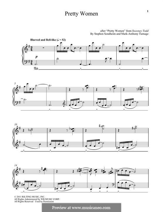 Pretty Women: Для фортепиано by Mark-Anthony Turnage, Stephen Sondheim