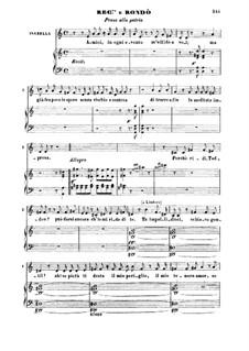 Итальянка в Алжире: Pensa a la patria. Recitative and Rondo for Mezzo by Джоаккино Россини