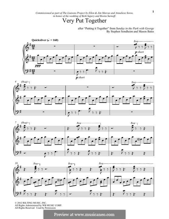 Very Put Together: Для фортепиано by Stephen Sondheim