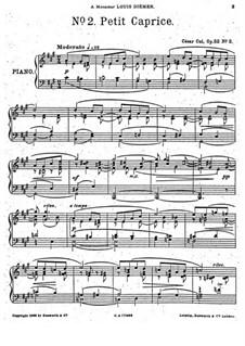 Пять пьес, Op.52: No.2 Маленький каприс by Цезарь Кюи