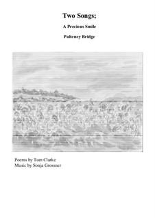 A Precious Smile and Pultney  Bridge: Для голоса и фортепиано by Sonja Grossner