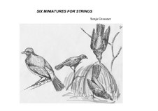 Six Miniatures: For strings by Sonja Grossner