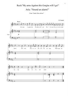 Иуда Маккавей, HWV 63: Sound an alarm! (D Flat Major) by Георг Фридрих Гендель