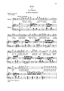 Севильский цирюльник: Manca un foglio e gia suppongo. Aria for Bass – Italian/English by Джоаккино Россини