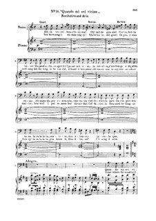 Севильский цирюльник: Quando mi sei vicina. Recitative and Aria for Bass – Italian/English by Джоаккино Россини