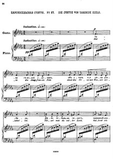 Двадцать пять стихотворений на слова Пушкина, Op.57: No.17 Царскосельская статуя by Цезарь Кюи