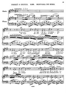 Двадцать пять стихотворений на слова Пушкина, Op.57: No.22 Соловей и кукушка by Цезарь Кюи