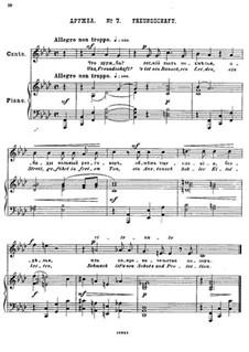 Двадцать пять стихотворений на слова Пушкина, Op.57: No.7 Дружба by Цезарь Кюи