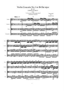 La stravaganza. Twelve Violin Concertos, Op.4: Violin Concerto No.1 in B Flat Major. Version for string quartet, RV 383 by Антонио Вивальди