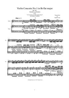 La stravaganza. Twelve Violin Concertos, Op.4: Violin Concerto No.1 in B Flat Major. Version for violin and piano, RV 383 by Антонио Вивальди