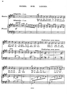 Двадцать пять стихотворений на слова Пушкина, Op.57: No.12 Песенка by Цезарь Кюи