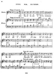 Двадцать пять стихотворений на слова Пушкина, Op.57: No.14 Глухие by Цезарь Кюи