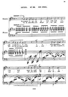 Двадцать пять стихотворений на слова Пушкина, Op.57: No.20 Ангел by Цезарь Кюи