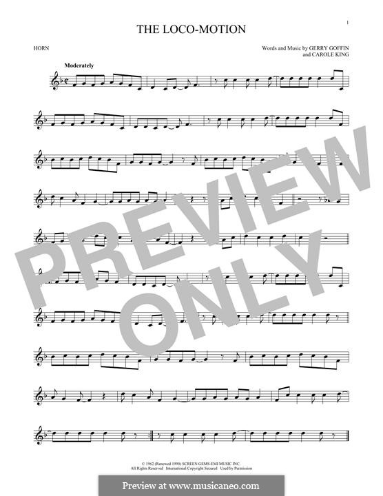 The Loco-Motion: For horn by Carole King, Gerry Goffin