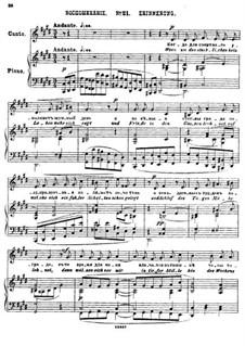 Двадцать пять стихотворений на слова Пушкина, Op.57: No.21 Воспоминание by Цезарь Кюи