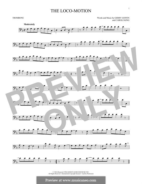 The Loco-Motion: For trombone by Carole King, Gerry Goffin