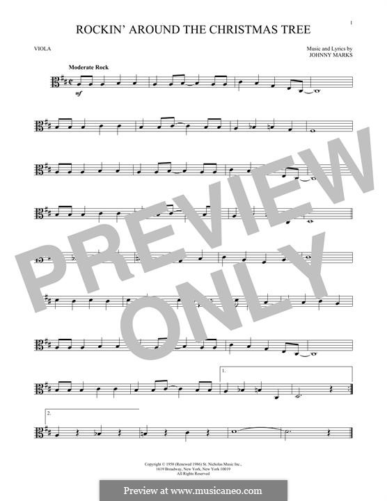 Rockin' Around the Christmas Tree: For viola by Johnny Marks