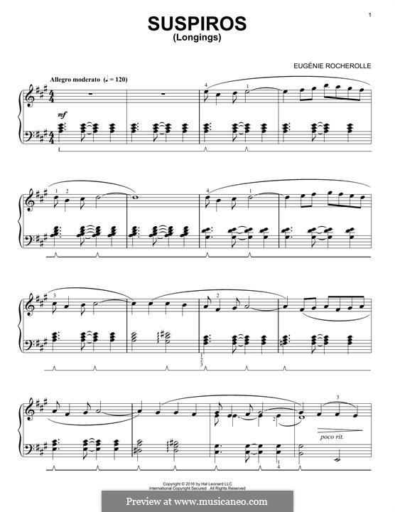 Suspiros: Для фортепиано by Eugénie Rocherolle